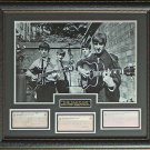 The Beatles Photo with Replica Check Collage Display.