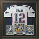 Tom Brady Signed New England Patriots Home Jersey Display.
