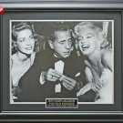 Humphrey Bogart & Marilyn Monroe & Lauren Bacall Framed 16x20 Photo