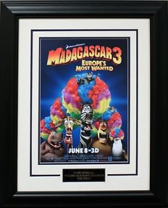 2012 Madagascar 3 Movie, matted and framed poster