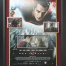 Henry Cavill & Amy Adams Dual Signed Man of Steel Photo Display.