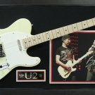 Bono & The Edge Dual Autographed Photo with Guitar Display.