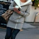 oversized fur lined long hoodie