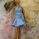 Barbie Doll Clothes Blue Fashion Fever Pinwheel Short Flare Skirt Halter Style Party Dress BDCDS3