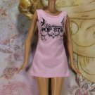 Barbie Doll Size Clothes Light Pink Knit Sporty Short Dress Undercover Pop Star BDCDS9