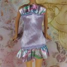 Barbie Doll Clothes Light Purple Rainbow Ruffled Short Party Dress Black Tag BDCDS10