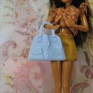 Barbie Flavas My Scene Powder Blue Large Molded Plastic Handbag Purse BDHBL4