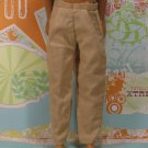 Barbie Ken Doll Clothes Tan Light Brown Dress Pants Slacks KDC7