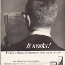 "1964 Head & Shoulders Shampoo Ad """"It works!"""""