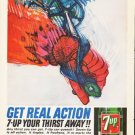 "1964 7-Up Ad """"Get Real Action"""""