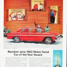 "1963 Rambler Ad """"Car of the Year"""" ... (model year 1963)"