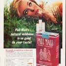 """1963 Pall Mall Cigarettes Ad """"""""natural mildness"""""""""""