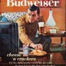 "1963 Budweiser Ad """"cheese 'n crackers"""""