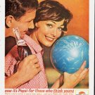 """1963 Pepsi-Cola Ad """"""""think young"""""""""""