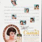 "1963 Toni Hair Color Ad """"I did it"""""