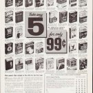 "1963 Doubleday Dollar Book Club Ad """"Take any 5"""""