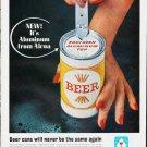 "1963 Alcoa Aluminum Ad """"Beer cans"""""