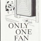 "1957 Signal Air Conditioner Ad """"Only One Fan"""""