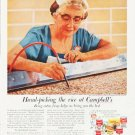 "1957 Campbell's Soup Ad """"Hand-picking the rice"""""