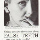 "1957 Polident Ad """"False Teeth"""""