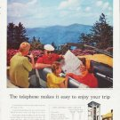 "1957 Bell Telephone System Ad """"enjoy your trip"""""