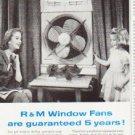 """1957 R&M Fans Ad """"""""Enjoy the peak"""""""""""
