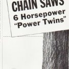"1957 Homelite Chain Saw Ad """"Power Twins"""""