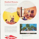 "1957 Simpson Forest Products Ad """"Hushed Beauty"""""