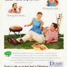"""1957 Du Pont Ad """"""""Let's have a picnic"""""""""""
