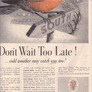 "1937 Veedol Motor Oil ""Don't Wait"" Advertisement"