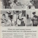 "1960 FOUNDATION FOR COMMMERCIAL BANKS ""FULL-SERVICE"" Ad"