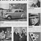 """1937 Chrysler Sedan Ad """"All Over The Map"""""""