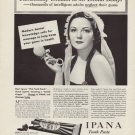 "1937 IPANA TOOTHPASTE ""PATHETICALLY CHILDISH"" Ad"