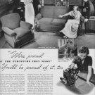 """1937 KROEHLER FURNITURE """"WE'RE PROUD ..."""" Advertisement"""