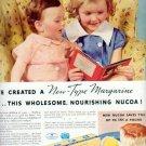 "1937 NUCOA MARGARINE ""KEEP THEM STRONG"" Advertisement"