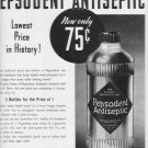 "1937 PEPSODENT ANTISEPTIC ""GIANT SIZE"" Advertisement"