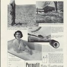 "1937 PERMUTIT WATER CONDITIONING ""HEADACHE"" Ad"