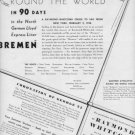 "1937 RAYMOND-WHITCOMB CRUISE ""BREMEN"" Advertisement"