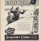"""1937 SEAGRAM'S CROWN WHISKEY """"ALL'S WELL"""" Advertisement"""