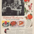 """1937 Stokely's Finest Foods """"Thanksgiving"""" Ad"""