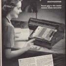 "1938 MONROE ADDING-CALCULATOR ""SPEED RECORDS"" Ad"