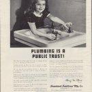 "1938 STANDARD SANITARY MFG. CO. ""TRUST"" Advertisement"