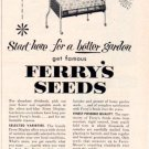 """1953 FERRY-MORSE SEED CO. """"START HERE"""" Advertisement"""