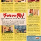 "1953 US PLYWOOD CORP ""WELDWOOD PLYWOOD"" Advertisement"