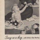 "1953 UTILITY APPLIANCE ""SNUG AS A HUG"" Advertisement"