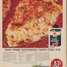 """1960 A&P """"ANN PAGE MACARONI"""" Advertisement"""
