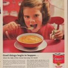 "1960 CAMPBELL'S SOUP ""GOOD THINGS BEGIN TO HAPPEN"" Ad"