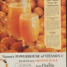 "1960 FLORIDA ORANGE JUICE ""POWERHOUSE OF VITAMIN C"" Ad"