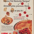 "1960 MORTON PIE ""OLD KENTUCKY RECIPES"" Advertisement"