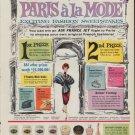 "1960 Pond's Skin Cream ""Paris A La Mode"" Ad"